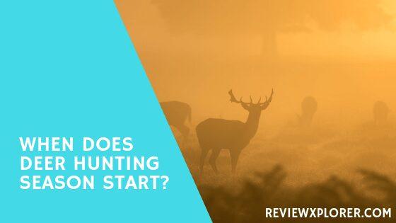 When does deer hunting season start?